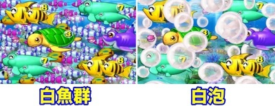 Pスーパー海物語IN沖縄2 白魚群 白泡